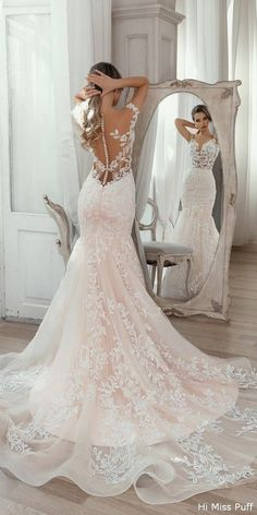 45 Fancy Wedding Dress Ideas That Every Women Will Love - Every bride wants to look picture perfect for her wedding day. Choosing the best wedding dress for you will help you create that perfect wedding day p. Fall Wedding Outfits, Wedding Dresses For Girls, Wedding Dress Trends, Bridal Dresses, Wedding Ideas, Wedding Decorations, Prom Gowns, Disney Wedding Dresses, Prom Outfits