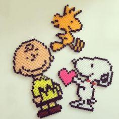 XXX R I HAMA OG MÅSKE HER XXX Peanuts perler beads by yuzu.pxa