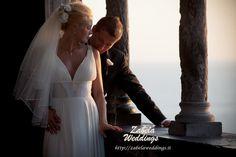 Civil Wedding at a castle on a seaside in Liguria, Lerici.