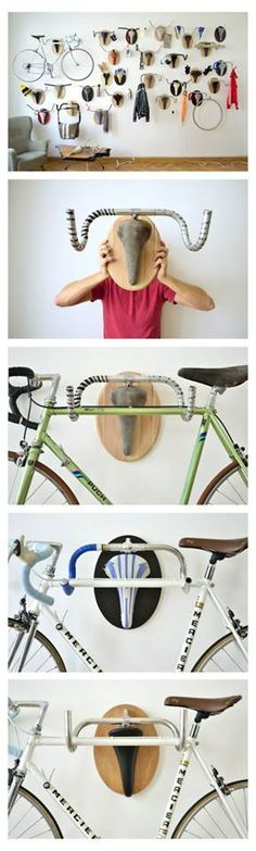 40 Clever Storage Ideas That Will Enlarge Your Space Fahrrad Dekoration The post 40 Clever Storage Ideas That Will Enlarge Your Space appeared first on Wohnung ideen. Range Velo, Velo Vintage, Vintage Bicycles, Bike Storage, Recycling Storage, Smart Storage, Record Storage, Clever Storage Ideas, Office Storage