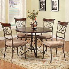 signature design dining room six piece dining set - walker
