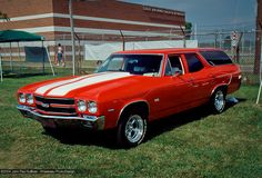 1970 Red Chevy Chevelle SS Station Wagon... Didn't look like that but it was red...