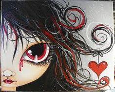 Make Art & Live Happy: her broken heart painting Mixed Media Faces, Mixed Media Art, Mix Media, Broken Heart Art, Peace Love And Understanding, Heart Painting, Lowbrow Art, Sketch Painting, Art Journal Inspiration