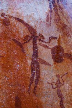 Bradshaw Rock Art - Drysdale National Park, Kimberley Region of WA.