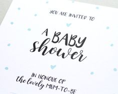 Baby Shower Invitations  x10  Polka Dots  by BlossomStudioUK