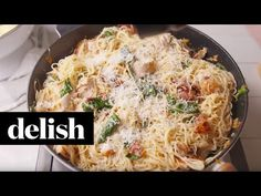 Best Chicken, Bacon, and Spinach Spaghetti Recipe - How to Make Chicken, Bacon, and Spinach Spaghetti