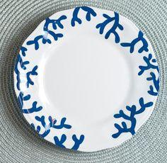 Blue Coral Melamine Dinnerware