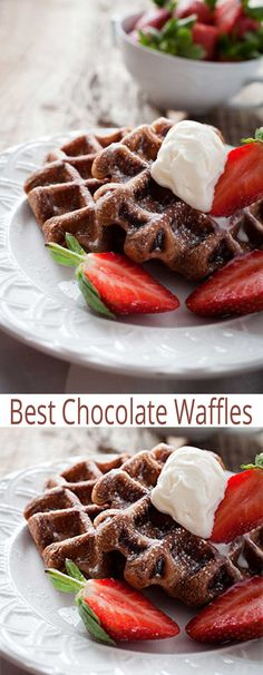 Try the BEST Chocolate Waffles recipe for an easy breakfast your family will love. Chocolate lovers will adore this breakfast idea. Homemade waffle recipes don't have to be hard to make. You can do whip up a fast breakfast of Chocolate Waffles in no time.
