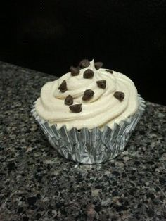 Chocolate Chip Cookie Dough Cupcakes!