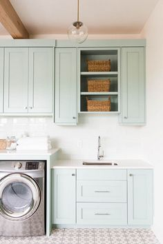 Laundry Room. Laundry Room storage. Laundry Room Storage Ideas. Laundry Room Cabinet with storage. #LaundryRoom #Storage  #laundryRoomStorage  Ashley Winn Design.