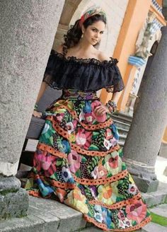 Lucero. Mexican Costume, Mexican Outfit, Mexican Party, Traditional Mexican Dress, Traditional Outfits, 15 Dresses, Fashion Dresses, Mexican Style Dresses, Mexican Quinceanera Dresses