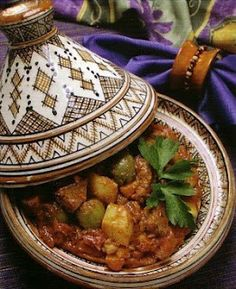 Moroccan Beef Tagine with Green Olives. I was kind of meh with the olives in this but my husband and daughter loved them.