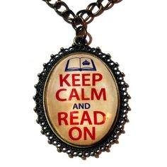 Neo Victorian Jewelry  Pendant  Keep Calm and by CatherinetteRings http://sunnydaypublishing.com/books/