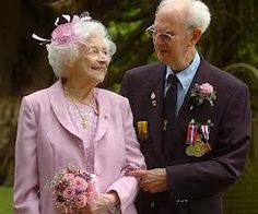 NEVER, EVER, GIVE UP....Cyril Merle and Maragaret Kingsley...have tied the knot at a combined age of 185 <3
