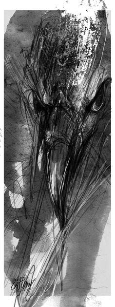 """""""Érase un buitre que me picoteaba los pies""""  Franz Kafka adaptado por Santiago Sanchez Kutika con dibujos de Andrés Casciani  http://andrescasciani.com/"""