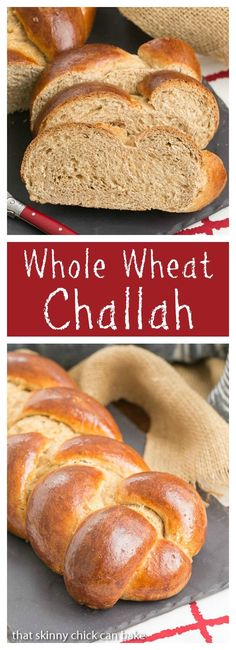 Whole Wheat Challah | Eggy, tender with the bonus of whole wheat! @lizzydo thatskinnychickcanbake.com