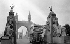 1960s Old London, West London, Rt Bus, London Transport, Fulham, Old West, Barcelona Cathedral, Mount Rushmore, Monochrome