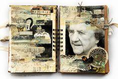 Journaling mixed media -Journal 17 - Nikniesz - You fade by finnabair