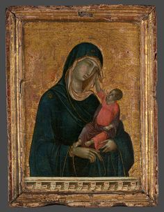 Duccio di Buoninsegna | Madonna and Child, ca.1300, tempera and gold on wood, with original engaged frame. The Metropolitan Museum of Art, New York.