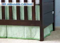 DIY adjustable crib skirt