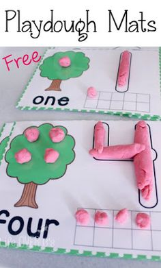 Free Dough Mats for Counting to 10 - Life Over Cs @zebraqueen85  @bethamberfree