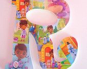 Doc McStuffins Inspired Letter Decor $9