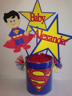 Hey, I found this really awesome Etsy listing at https://www.etsy.com/listing/175465575/superman-bucket-centerpiece-superman