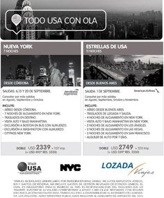 USA desde Rosario! Consultanos! f: lozadalovesyou t: 351 423-0903 m: viajes@lozadaviajes.com