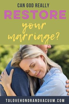 If your marriage is broken, and you feel distant, and you're reeling from heartache, can God restore it? I think it's one of God's favourite things to do! But I also think this question has a lot of nuance to it. #faithinmarriage #restoringmarriage #godatthecentre #healinginmarriage #biblicalmarriage #happymarriage #healthymarriage #tolovehonorandvacuum Healthy Marriage, Successful Marriage, Happy Marriage, Biblical Marriage, Marriage Advice, Relationship Tips, Christian Wife, Christian Marriage, Love You Husband