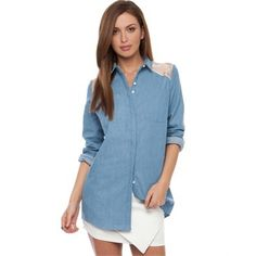 Staple the Label - Chambray Sheer Shirt from Little Sale Birdy