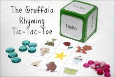 The Gruffalo is possibly one of our favorite books. The boys love the story line … The Gruffalo Rhyming Tic-Tac-Toe–Virtual Book Club for Kids Read Gruffalo Activities, School Age Activities, Literacy Activities, Activities For Kids, Literacy Bags, Preschool Literacy, Kindergarten Class, Preschool Ideas, Rhyming Games