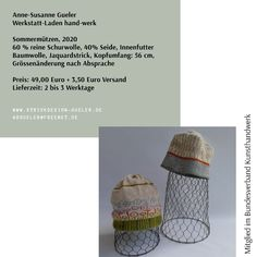 www.strickdesign-gueler.de Outdoor Furniture, Outdoor Decor, Crochet Hats, Studio, Arts And Crafts, Silk, Knitting Hats, Studios, Backyard Furniture
