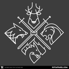 ''Minimal Thrones'' by gianni.corniola03b available today only, 10/28/16, at RIPT Apparel