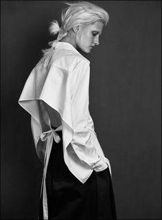 Visibly Interesting: modern white shirt