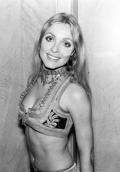 Sharon Tate photographed after the premiere of Rosemary's Baby (1968)