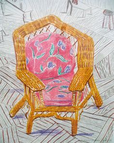 "David Hockney ""Number One Chair""1985 --> Manou"