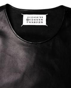 Margiela leather vest.