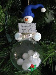 Snowballs for Sale Ornament. Such a precious homemade ornament (with tutorial)!