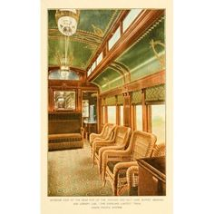 A souvenir of the Overland limited train 1897 Rear end of Buffet Smoking & Library car Canvas Art - Unknown (18 x 24)