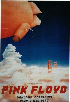 Vintage Music Art Poster - Pink Floyd - Oakland Coliseum 0398 by VintageMusicPosters on Etsy https://www.etsy.com/listing/489330501/vintage-music-art-poster-pink-floyd