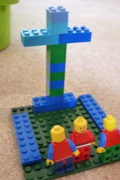 Easter Egg Keepsakes, Lego Fun, and Stained Glass Art - Preschool and Kindergarten Community Linkup Used Legos, Lego Challenge, Easter Story, Lego Toys, Lego Ideas, Stained Glass Art, Easter Lego, Kids Toys, Kindergarten