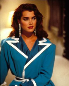 """Brooke Shields photographed in 1986 wearing Bob Mackie on the set of """"Brenda Starr."""""""