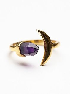 Amethyst moon ring.