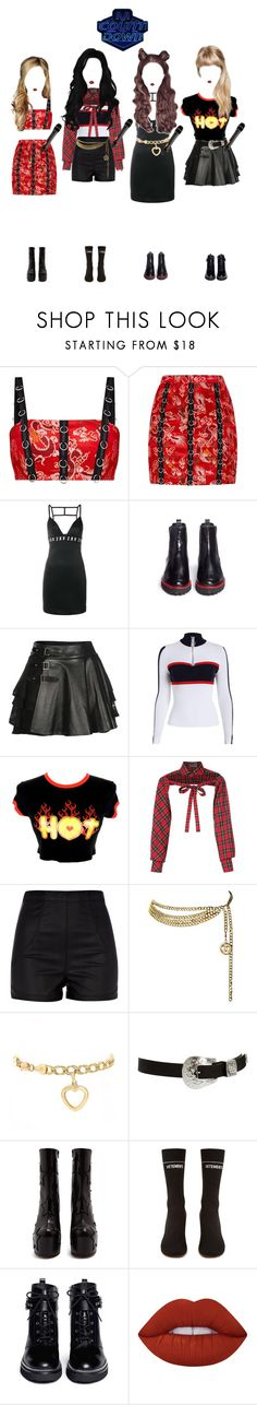 """""""《M Countdown》CRYBABY {13.12}"""" by bittersweet-official ❤ liked on Polyvore featuring Versus, Frances Valentine, Mairi Mcdonald, Les Animaux, River Island, Chanel, ASOS, Vetements, MICHAEL Michael Kors and Lime Crime"""