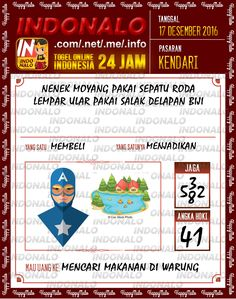Tafsir Lotre 4D Togel Wap Online Live Draw 4D Indonalo Kendari 17 Desember 2016