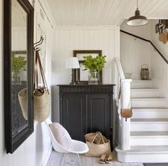 House tour: Scandinavian country style - Style At Home House Design, My Ideal Home, House, Home, Swedish Cottage, White Washed Floors, Feng Shui House, House Interior, White Staircase