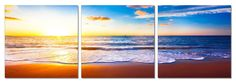 """47"""" Vibrant Shoreline. 3 Panel Giclee Framed and Ready to Hang. Modern Art Wall Decor by USADECOR on Etsy https://www.etsy.com/listing/180657071/47-vibrant-shoreline-3-panel-giclee"""
