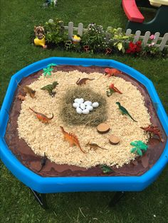 Small world tuff tray eyfs early years imaginative play dinosaur world gloop Dino nest Small world tuff tray eyfs early years imaginative play dinosaur world gloop Dino nest Eyfs Activities, Nursery Activities, Dinosaur Activities, Dinosaur Crafts, Preschool Activities, Dinosaur Projects, Nanny Activities, Dinosaur Garden, Dinosaur Play