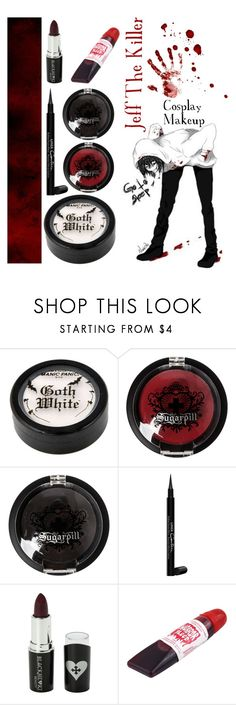 """Jeff The Killer - Creepypasta - Cosplay Makeup #3"" by insane-alice-madness ❤ liked on Polyvore featuring beauty, Sugarpill, Givenchy and Voom"
