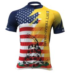 Don t Tread On Me USA Flag Men Cycling Jersey. Cycling Gear ... 3d92bfd01